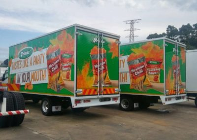 Frimax Digital Printed Trucks Left View